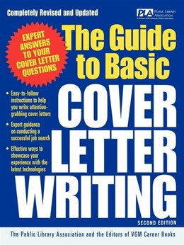 Book The Guide to Basic Cover Letter Writing by Public Library Association