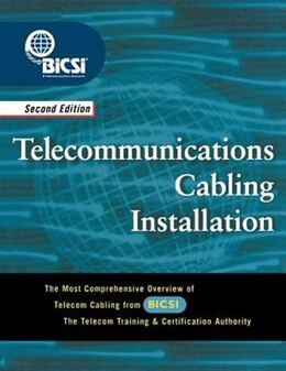 Book Telecommunications Cabling Installation by BICSI