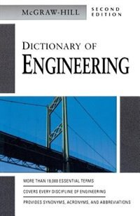 Book Dictionary of Engineering by McGraw-Hill Education