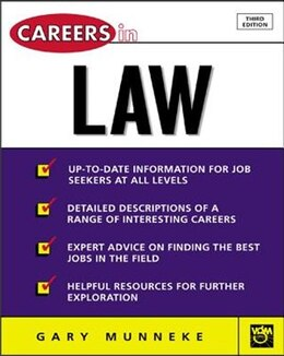 Book Careers in Law by Gary Munneke