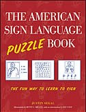 Book The American Sign Language Puzzle Book: The Fun Way to Learn to Sign by Justin Segal