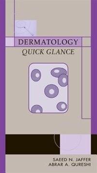 Book Dermatology Quick Glance by Saeed Jaffer