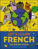 Book Let's Learn French Coloring book by Anne-Francoise Pattis