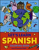 Book Let's Learn Spanish Coloring book by Anne-Francoise Pattis
