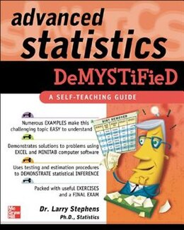 Book Advanced Statistics Demystified by Larry Stephens