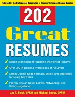 Book 202 Great Resumes by Jay A. Block