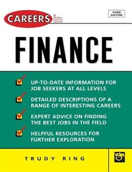 Book Careers In Finance by Trudy Ring