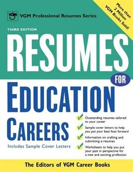 Book Resumes For Education Careers by Editors of VGM