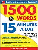 Book 1500 Words in 15 Minutes a Day by Ceil Cleveland