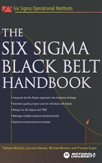 Book The Six Sigma Black Belt Handbook by Thomas McCarty