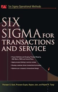 Book Six Sigma For Transactions And Service by Parveen Goel
