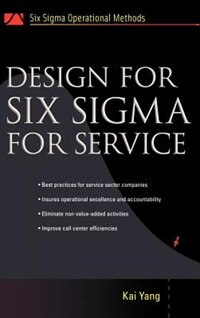 Book Design for Six Sigma for Service by Kai Yang