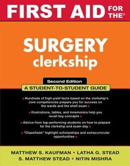 Book First Aid for the Surgery Clerkship by Matthew S. Kaufman