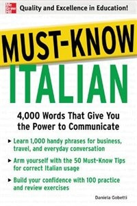 Book Must-Know Italian: 4,000 Words That Give You the Power to Communicate by Daniela Gobetti