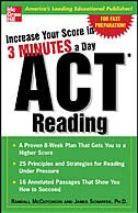 Book Increase Your Score In 3 Minutes A Day: ACT Reading: ACT Reading by Mccutcheon, Randall