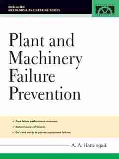 Plant and Machinery Failure Prevention by A A Hattangadi