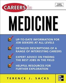 Book Careers in Medicine, 3rd ed. by Terence Sacks