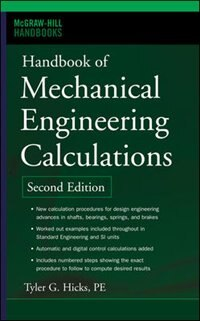 Book Handbook of Mechanical Engineering Calculations, Second Edition by Tyler G. Hicks