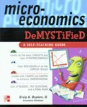 Book Microeconomics Demystified: A Self-Teaching Guide by Craig Depken