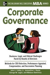 Book Corporate Governance by John Colley