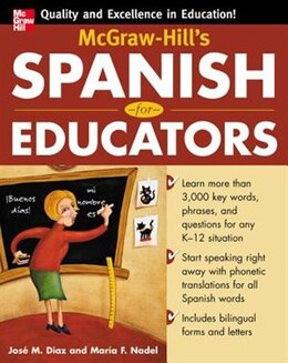 Book McGraw-Hill's Spanish for Educators (Book Only) by Jose Diaz