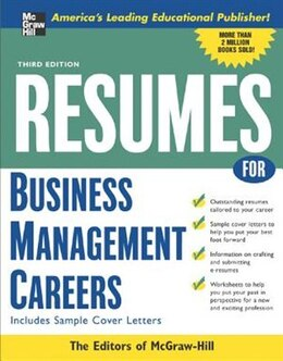 Book Resumes for Business Management Careers by McGraw-Hill Education