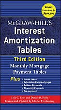 Book McGraw-Hill's Interest Amortization Tables, Third Edition by Jack Estes