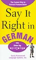 Say It Right In German by EPLS EPLS