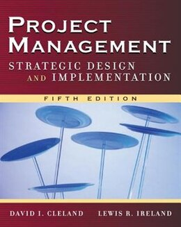 Book Project Management: Strategic Design and Implementation by David Cleland