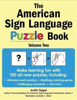 Book The American Sign Language Puzzle Book Volume 2 by Justin Segal