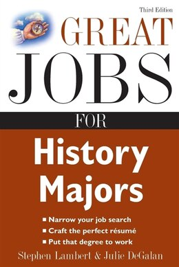 Book Great Jobs for History Majors by Stephen Lambert