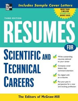 Book Resumes for Scientific and Technical Careers by McGraw-Hill Education