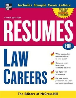 Book Resumes for Law Careers by McGraw-Hill Education
