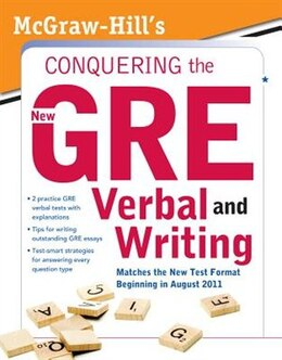 Book McGraw-Hill's Conquering the New GRE Verbal and Writing by Kathy A. Zahler