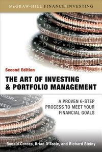 Book The Art of Investing and Portfolio Management by Ronald Cordes