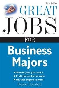 Book Great Jobs for Business Majors by Stephen Lambert