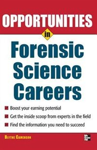 Book Opportunities in Forensic Science by Blythe Camenson