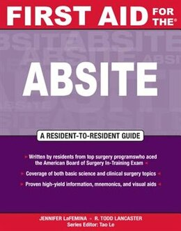 Book First Aid for the® ABSITE by Jennifer LaFemina