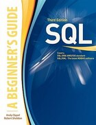 SQL: A Beginner's Guide, Third Edition: A BEGINNER'S GUIDE 3/E