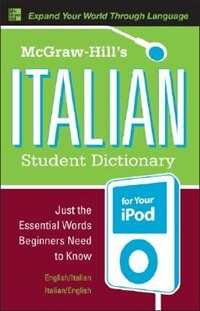 Book McGraw-Hill's Italian Student Dictionary for your iPod (MP3 CD-ROM + Guide) by Raffaele Dioguardi