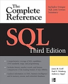 SQL The Complete Reference, 3rd Edition: The Complete Reference, Third Edition