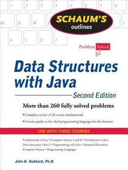 Book Schaum's Outline of Data Structures with Java, 2ed by John Hubbard