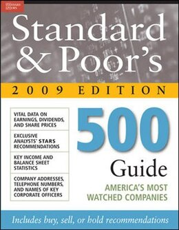 Book Standard & Poor's 500 Guide 2009 PB by Standard & Poor's