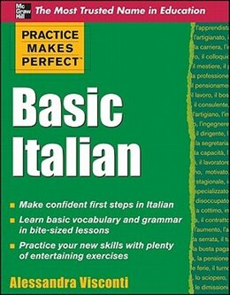 Book Practice Makes Perfect Basic Italian by Alessandra Visconti