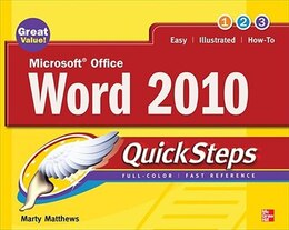 Book Microsoft Office Word 2010 QuickSteps by Marty Matthews