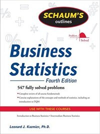 Book Schaum's Outline of Business Statistics, Fourth Edition by Leonard Kazmier