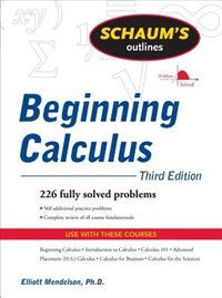 Book Schaum's Outline of Beginning Calculus, Third Edition by Elliott Mendelson