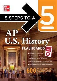 Book 5 Steps to a 5 AP U.S. History Flashcards for Your iPod with MP3/CD-ROM Disk by Stephen Armstrong
