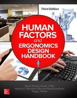 Book Human Factors and Ergonomics Design Handbook, Third Edition by Barry Tillman