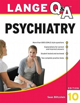 Book Lange Q&A Psychiatry, 10th Edition by Sean Blitzstein